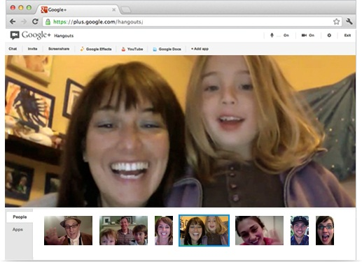 Google+ Hangout screenshot